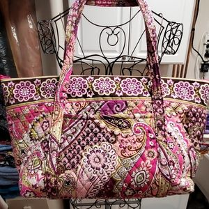 Vera Bradley Miller Bag Very Berry Paisley